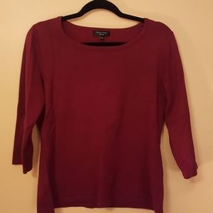 3 for $12 Lightweight knit, maroon sweater, med